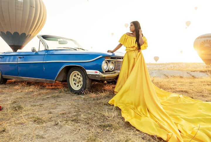 Blue Impala with photoshoot and dress