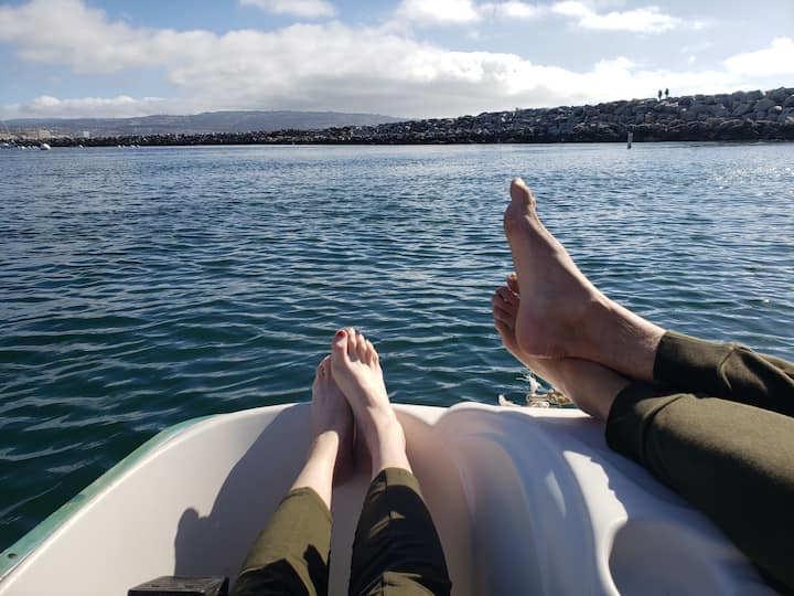 Chillaxing on Pedal Boat