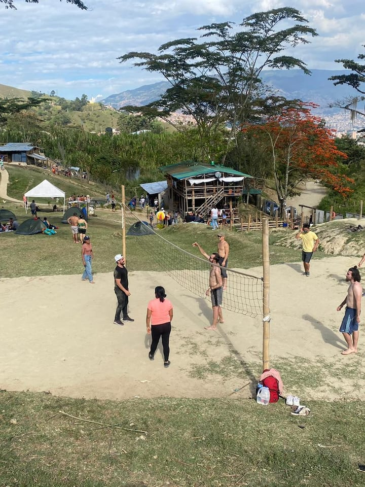 Enjoy volleyball with the locals
