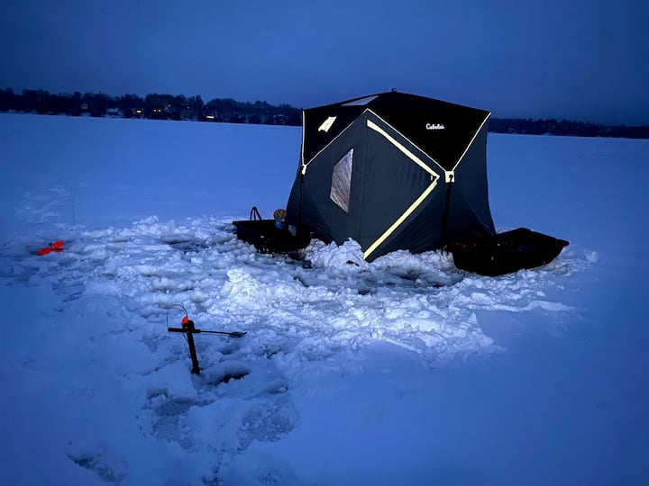 Heated tent for those cold days