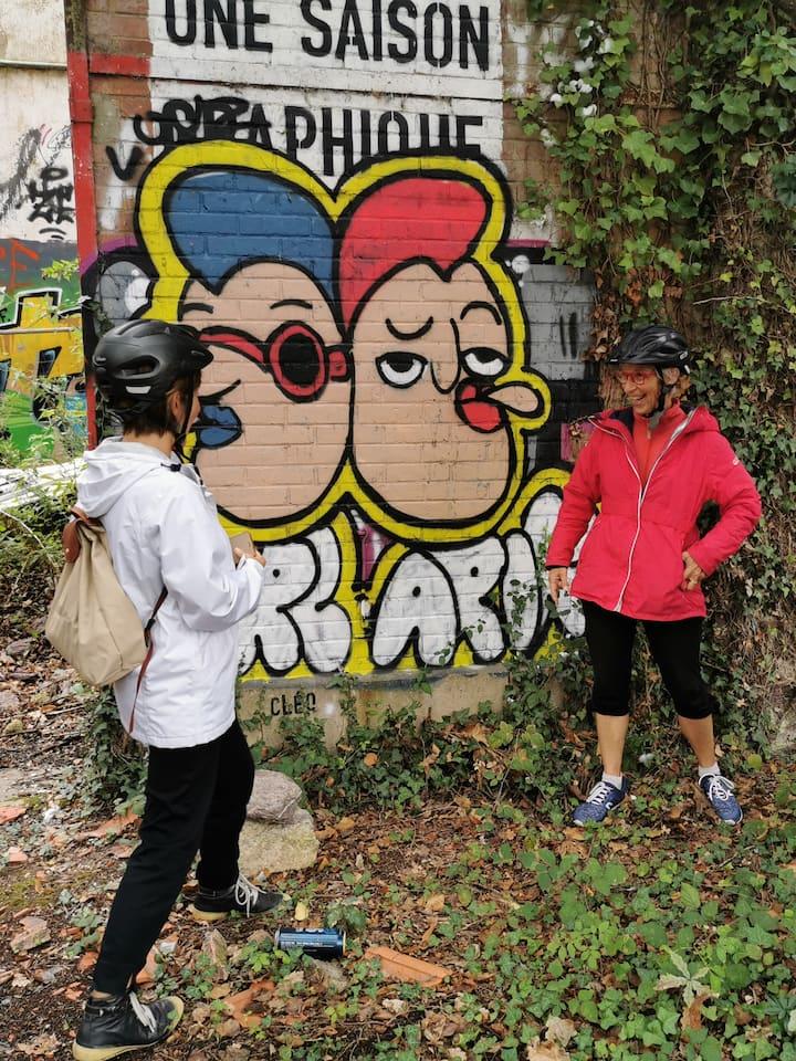 Découverte de street art dans une friche