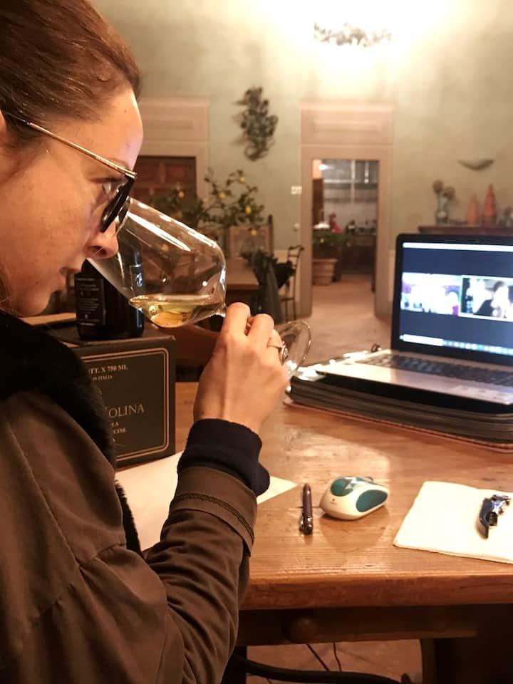 Me conducting a Virtual ine Tasting