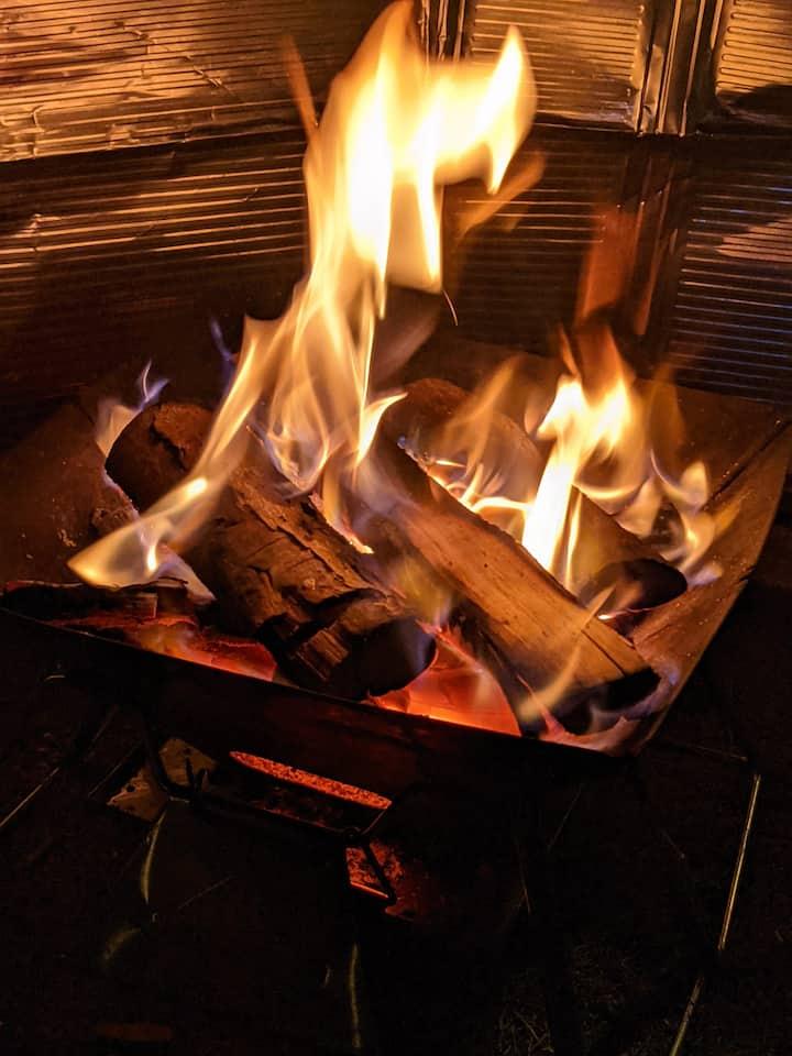 Bonfire experience 焚き火体験