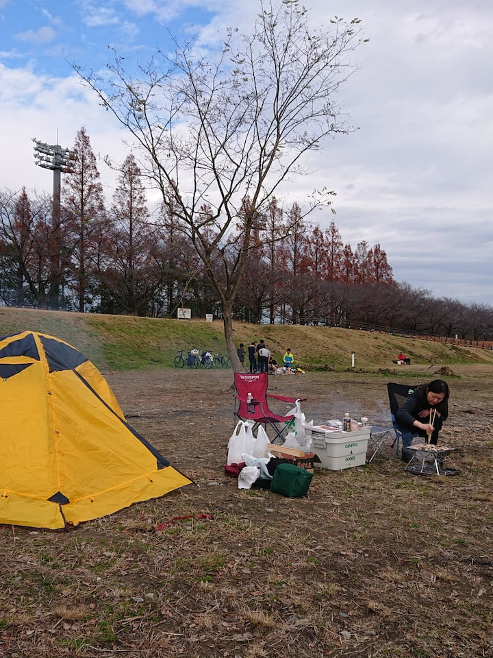 Tent setting experience etc. テント設営体験等