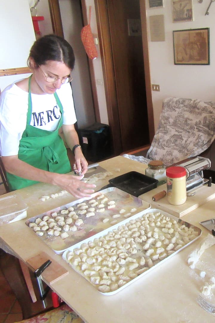 Making potato gnocchi