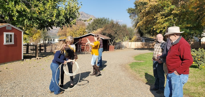 Try your hand at roping