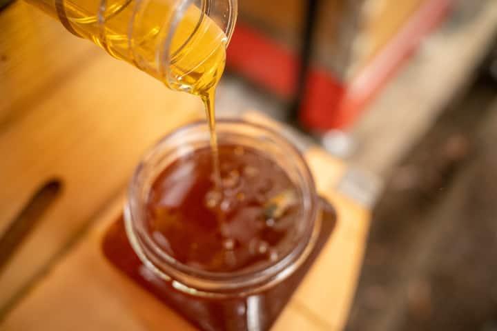 honey straight into a jar