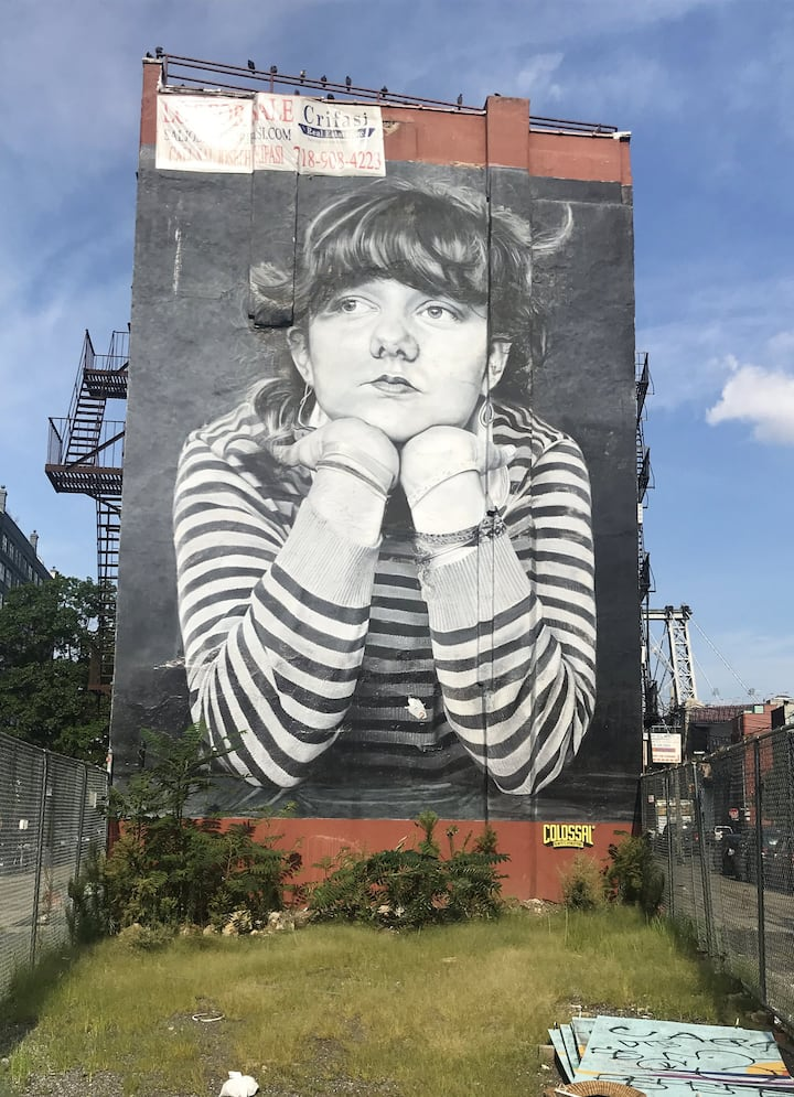 One of the murals in Williamsburg