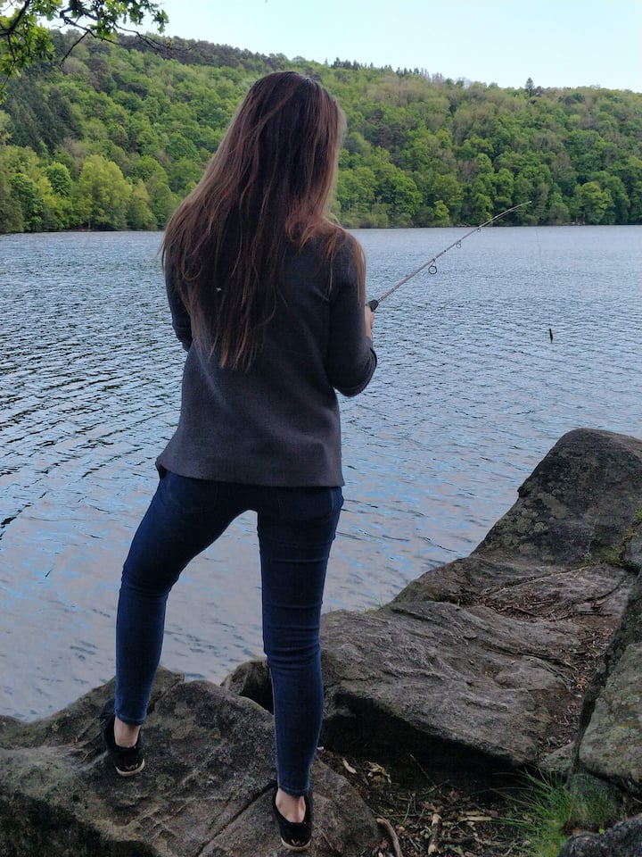 Découverte de la pêche avec Aleksandra