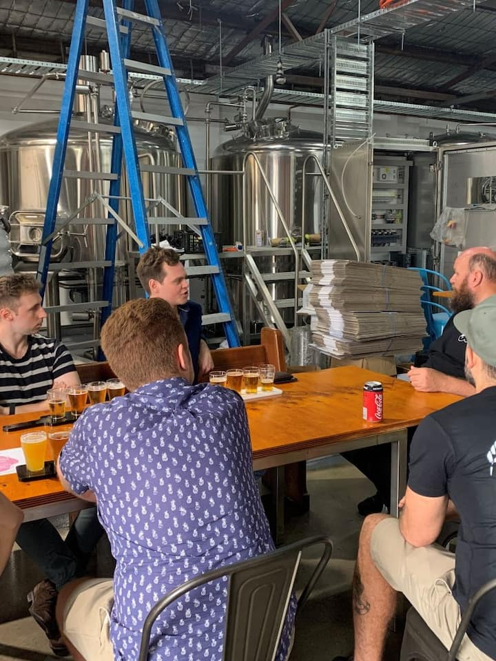 Learning about the brewing process
