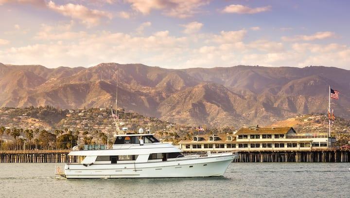 Our 70' multi-level yacht, Azure Seas.