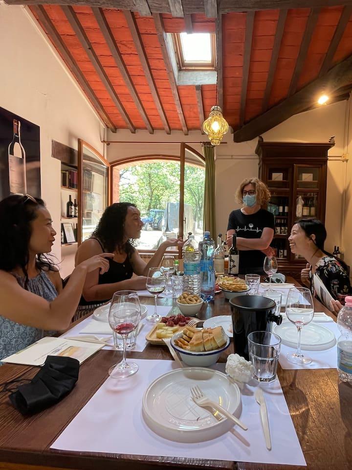 Degustation menu at every winery visit