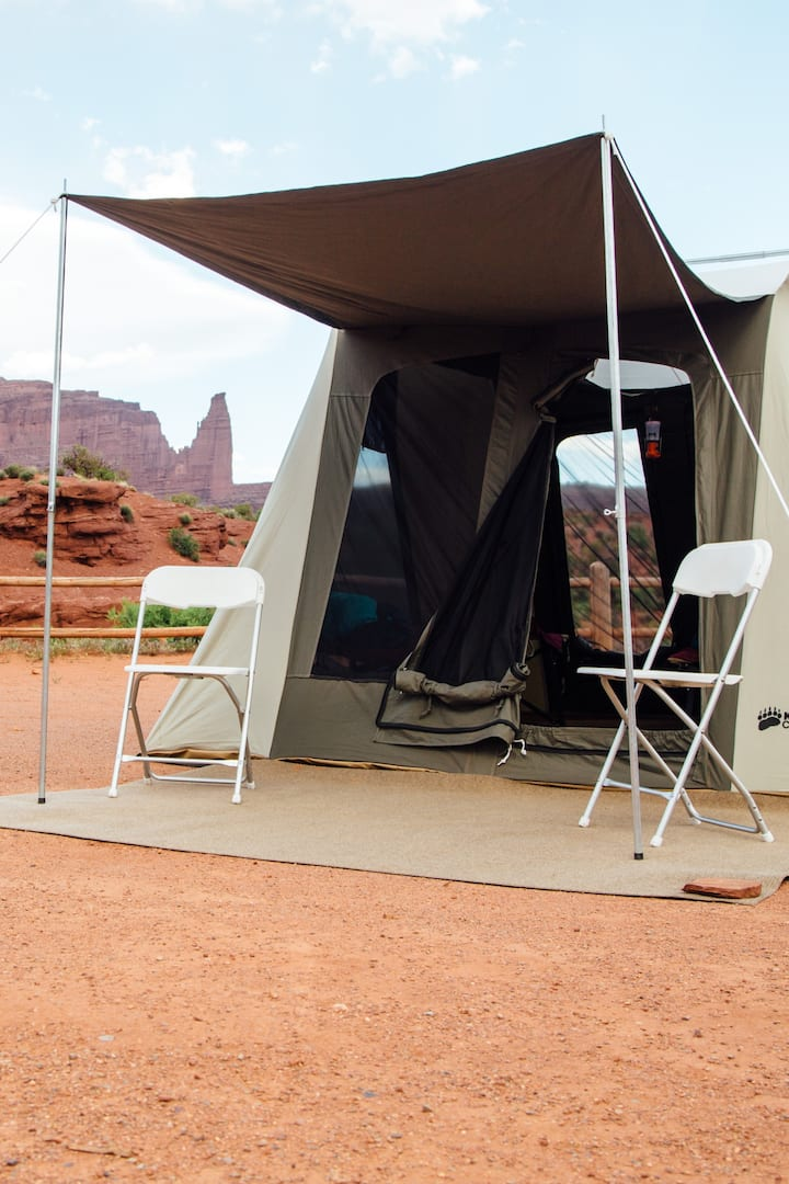 Guest tents are roomy & comfortable