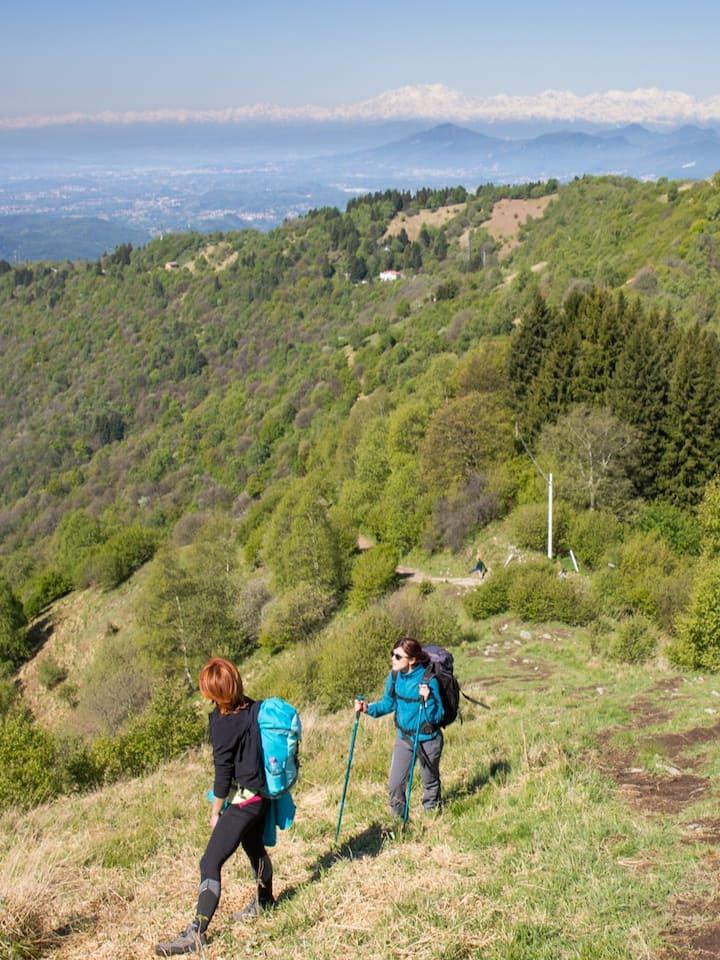 Wide and panoramic ridge