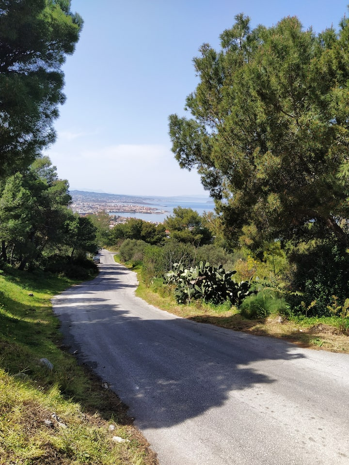 The road back to go to the cafeteria in Halepa