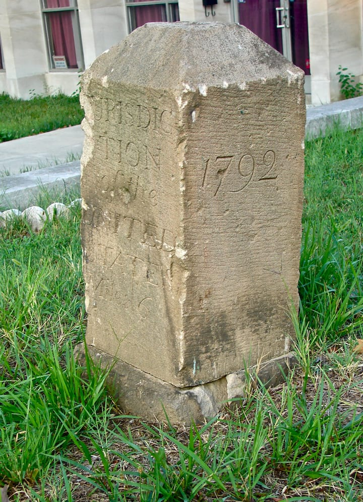 Boundary Stone Marker and Monument