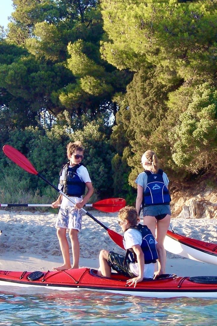 Arrivo a Tuerredda in Kayak