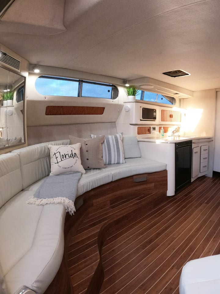 Inside of our yacht