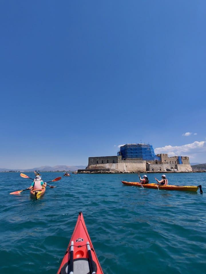 Approaching Bourzi fort