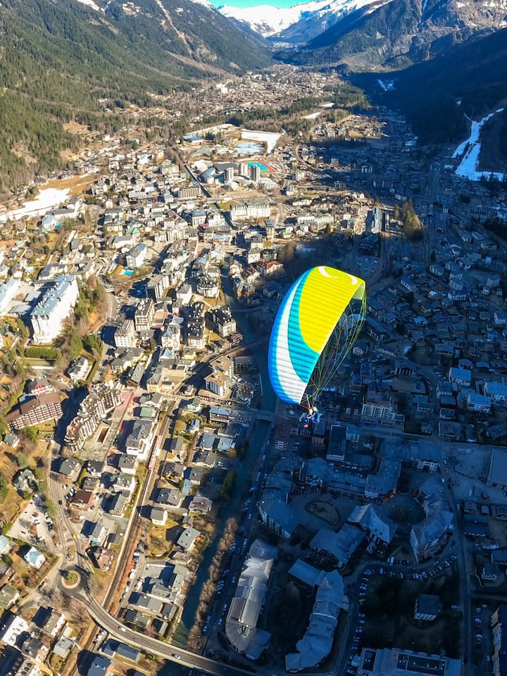 Flying over Chamonix