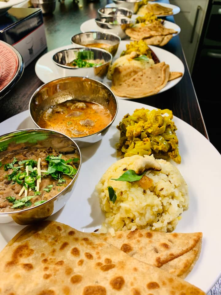 Home cooked traditional Indian food