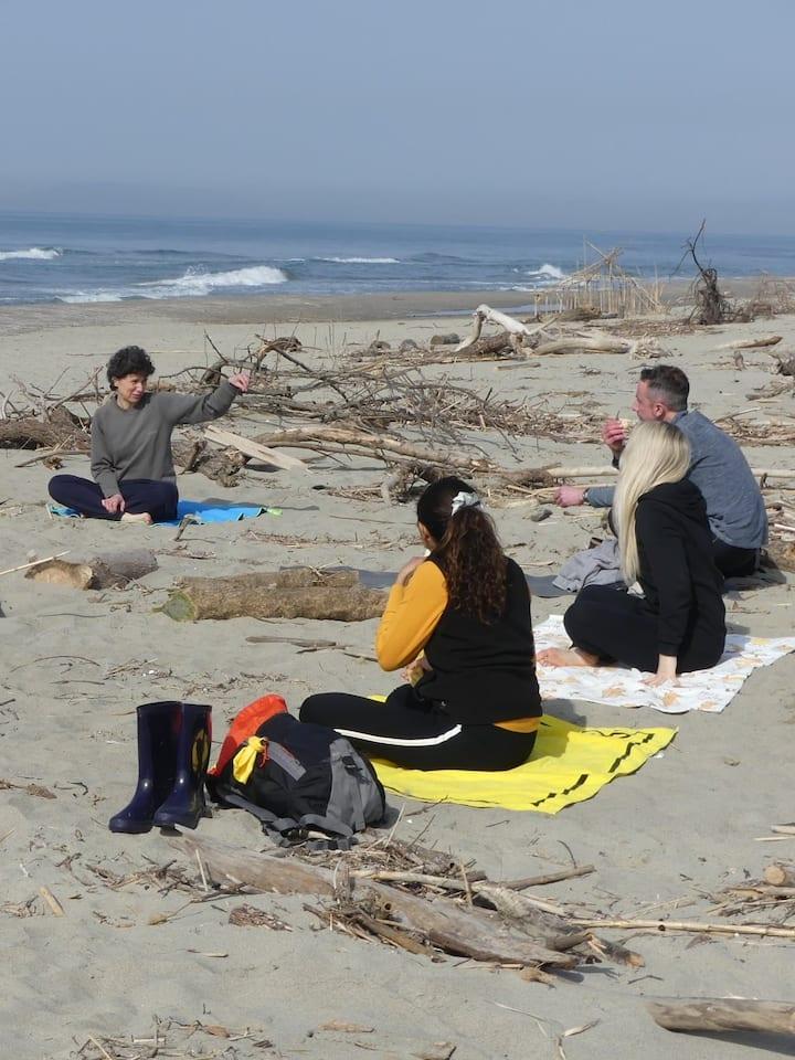 La pratica Yoga in riva al mare