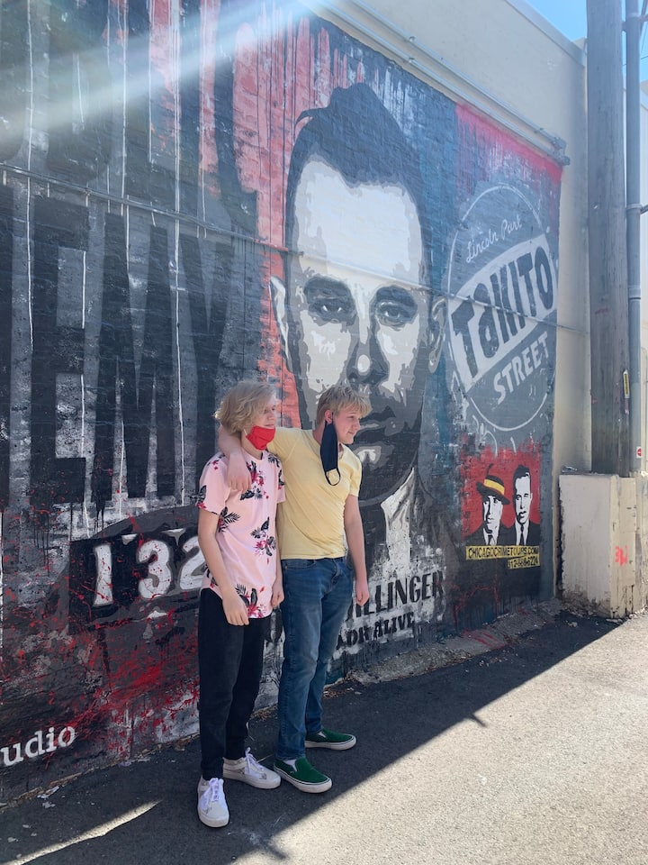The Dillinger mural