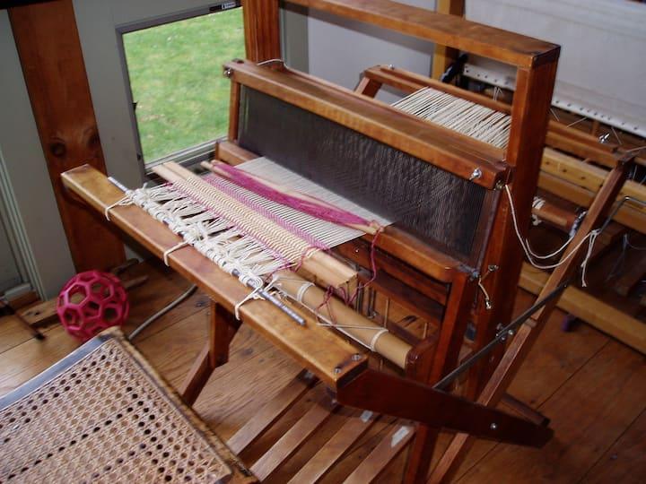 Loom ready to begin a towel.