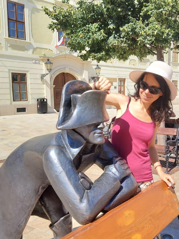 Napoleon statue at the Main Square