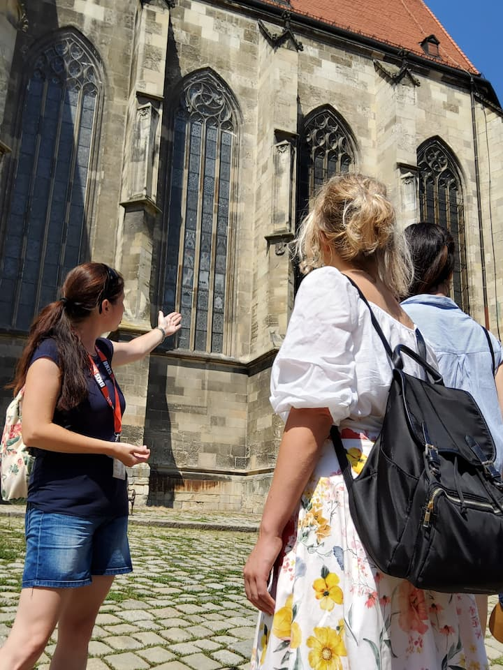 Local guide at St. Martins Cathedral