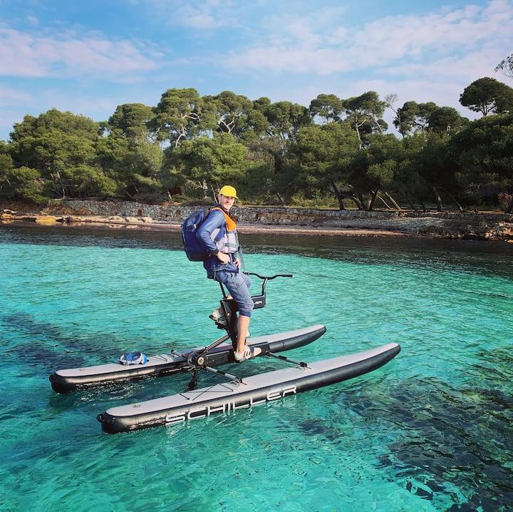 La plage eau turquoise