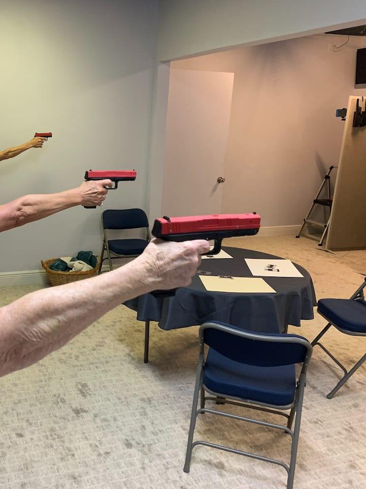 Shooting with single hand