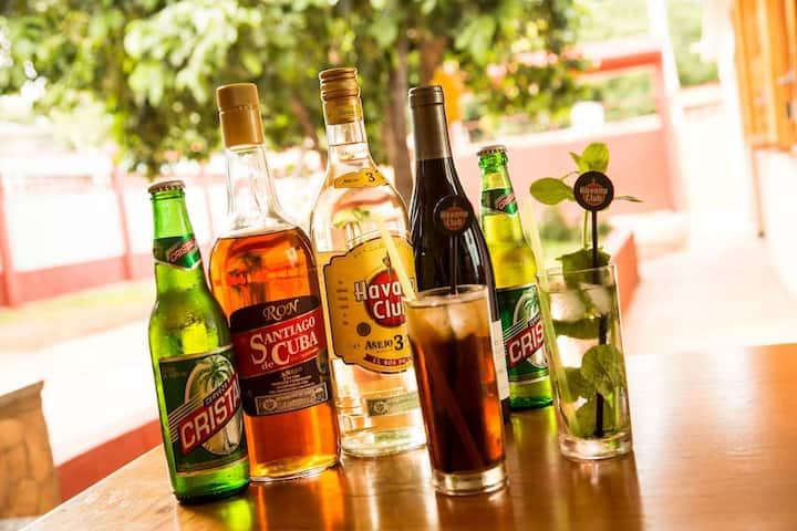 rones y cerveza cubana