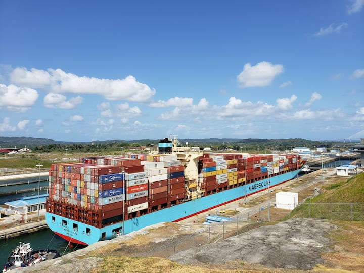 Container Ship in transit