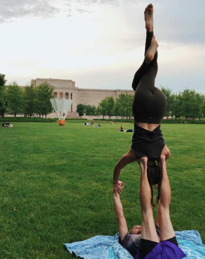 Acro-yoga free flowing after class.