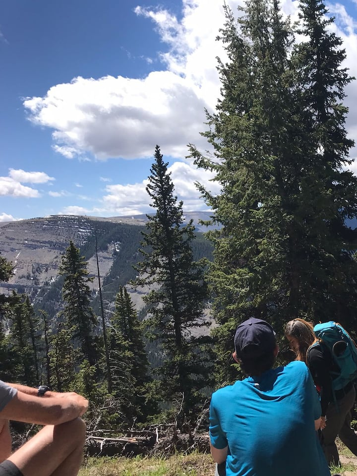 Enjoying the vistas
