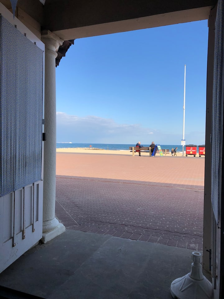 View from the beach hut