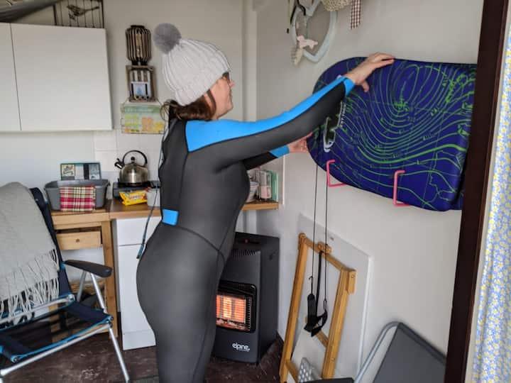 Body surf boards & beach hut