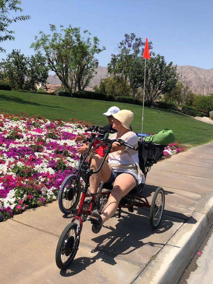 Ride through beautiful neighborhoods