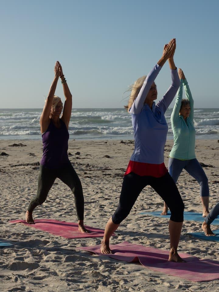 Haremos Yoga en la tabla o en la playa
