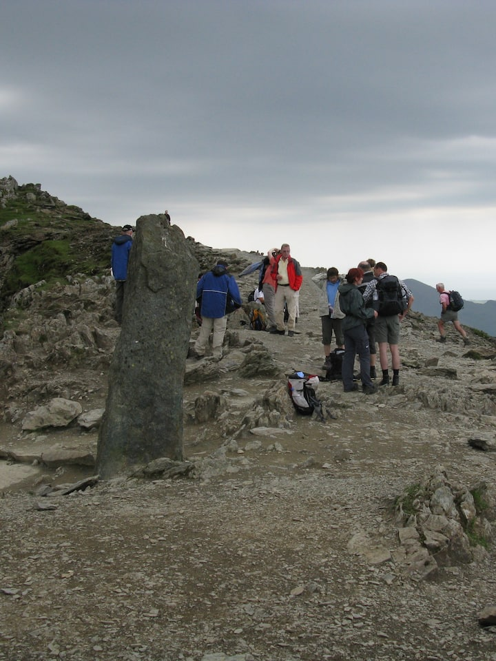 Guests take a rest at the 'Fingerpost'