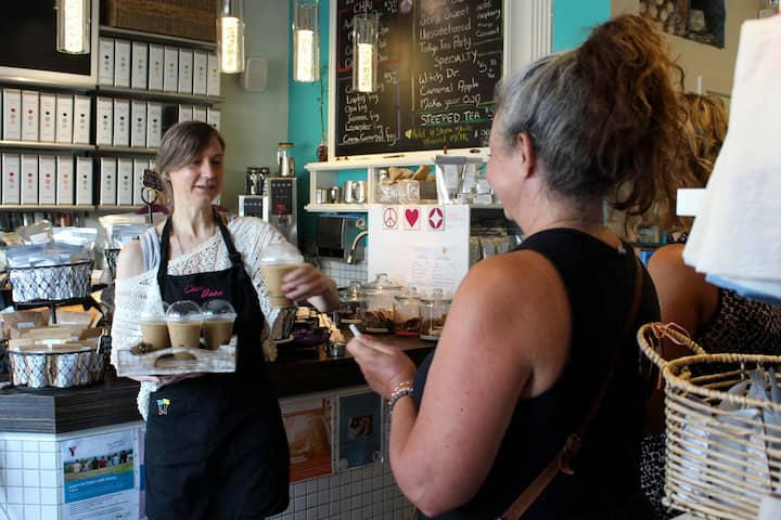 Service with a smile at Chai Baba