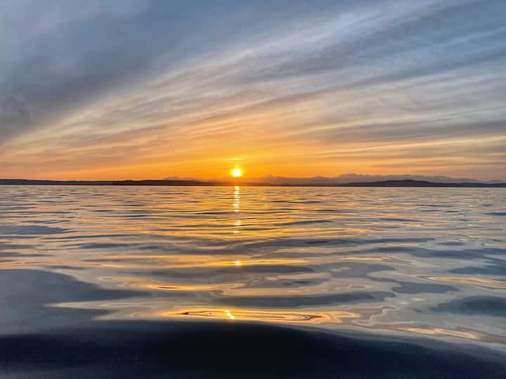 Sunset at Lowman Beach