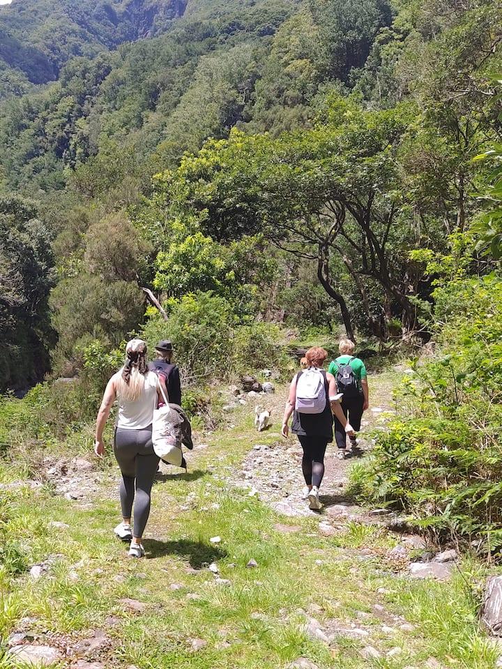 Walking along the side' stream
