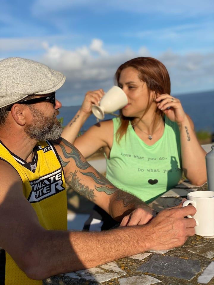 Depois do treino, momento chá dos Açores