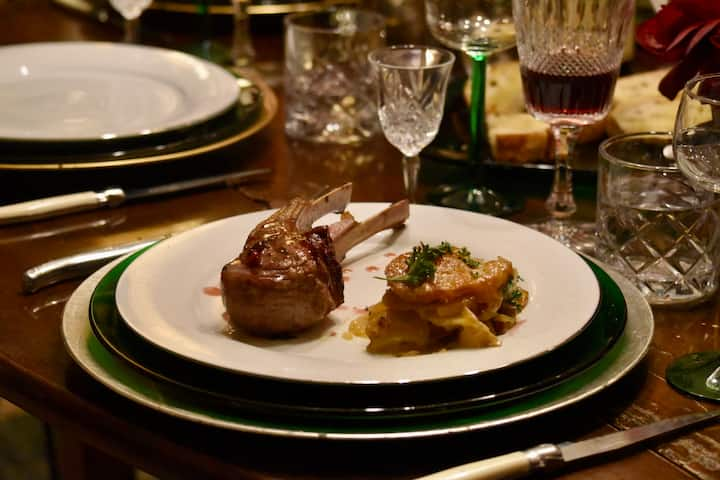 """Lamb chops entree with """"patate al latte"""""""