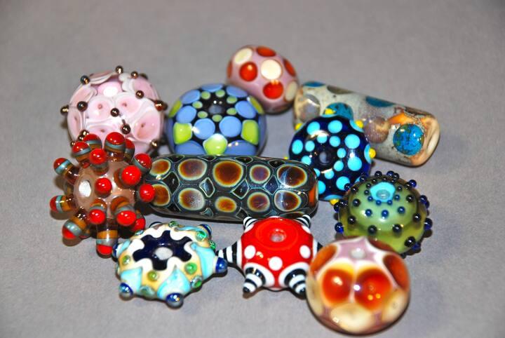 Italian soft glass beads