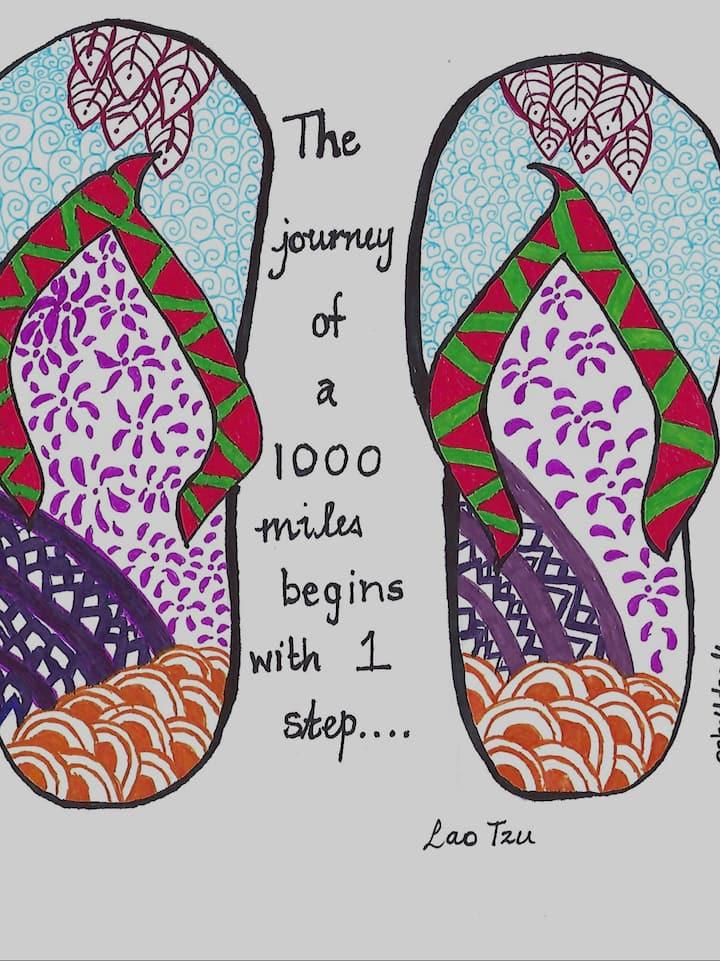 Flip Flops with quote