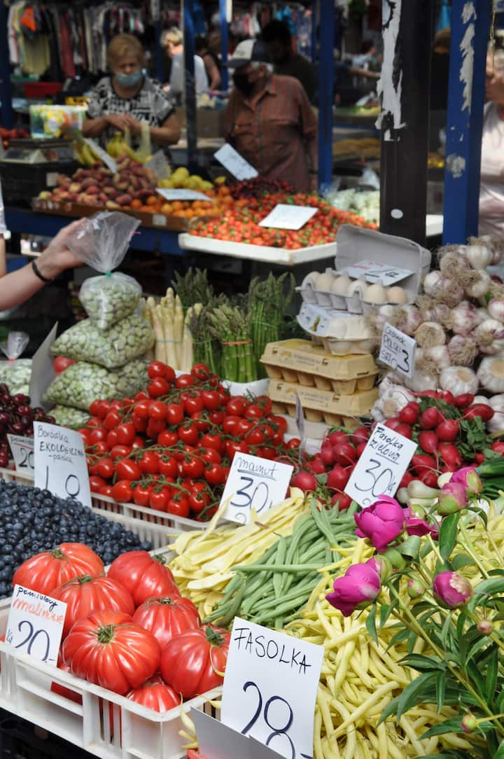 Fresh produce in the marketplace