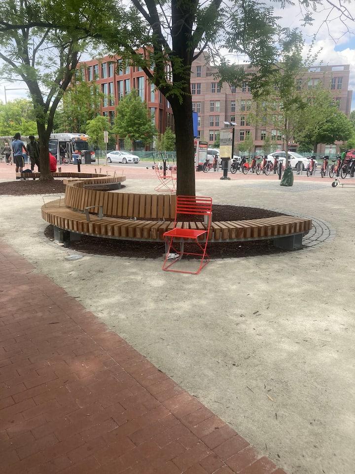 Meeting spot by Eastern Market Metro
